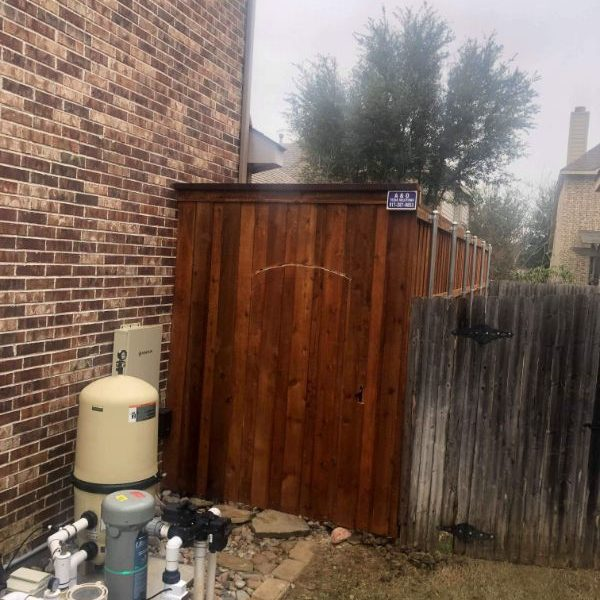 wooden fence with gate