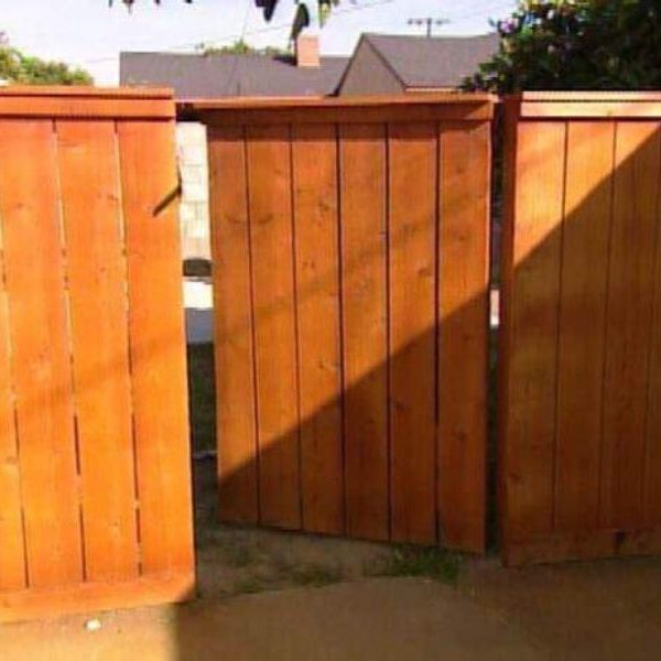 seamless wooden gate in fence