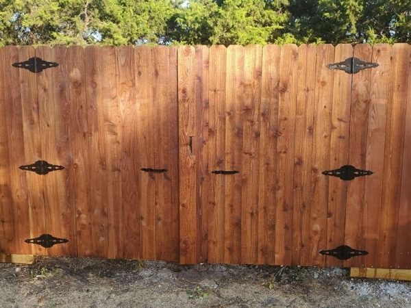 two gates in a privacy fence