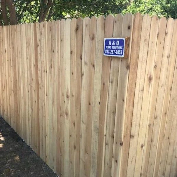 light colored privacy fence