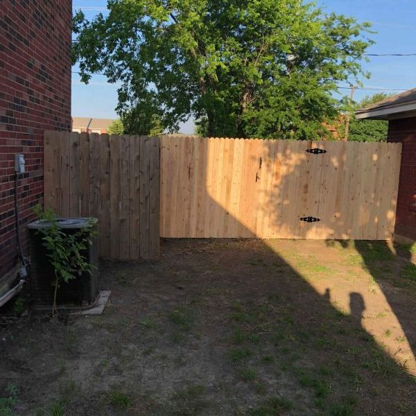 wooden fence-with gate