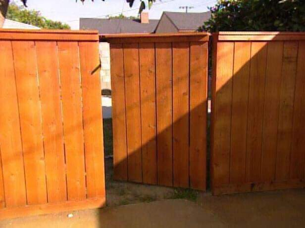 seamless gate in fence