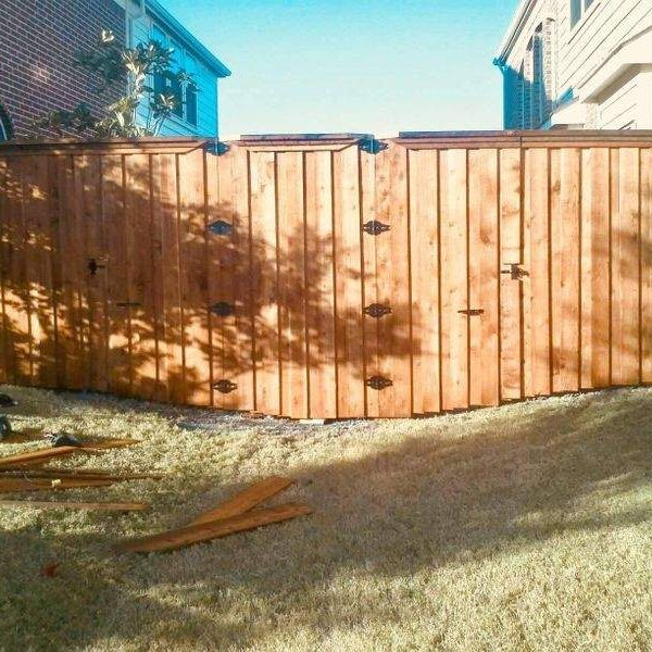 wooden gates in fence
