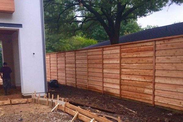 brand new privacy fence