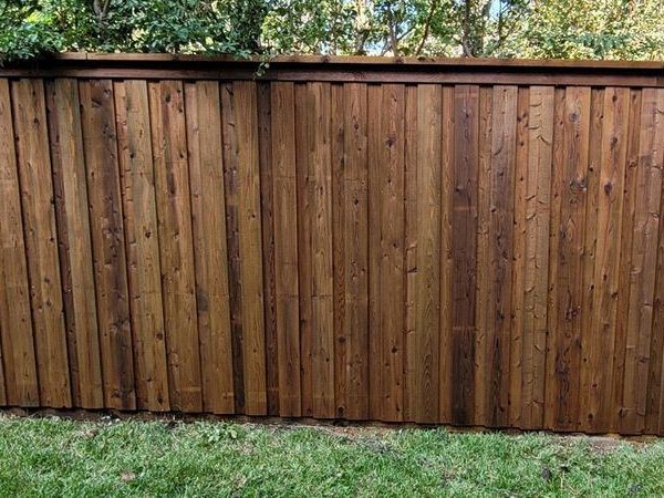 Wooden residential fencing